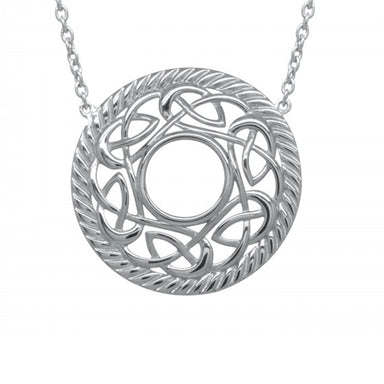 rhodium plated celtic necklace by jmh