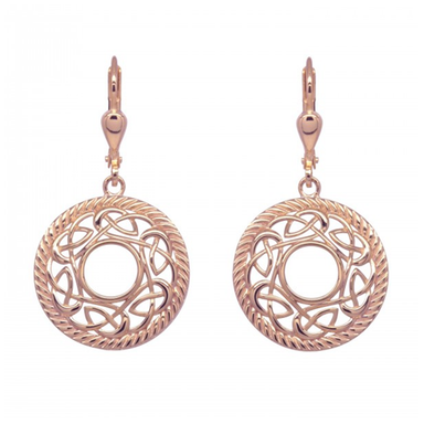 rose gold plated earrings by jmh
