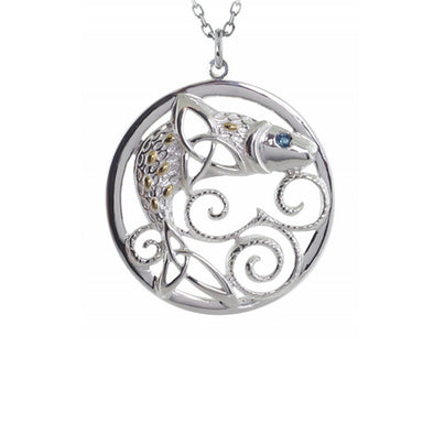 Celtic Legends Salmon of Knowledge Pendant