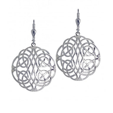 sterling silver celtic knotwork earrings by jmh
