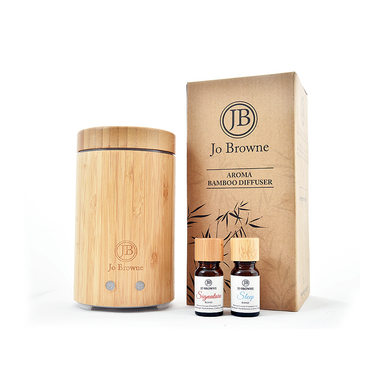 aroma bamboo diffuser with essential oils  by jo brown
