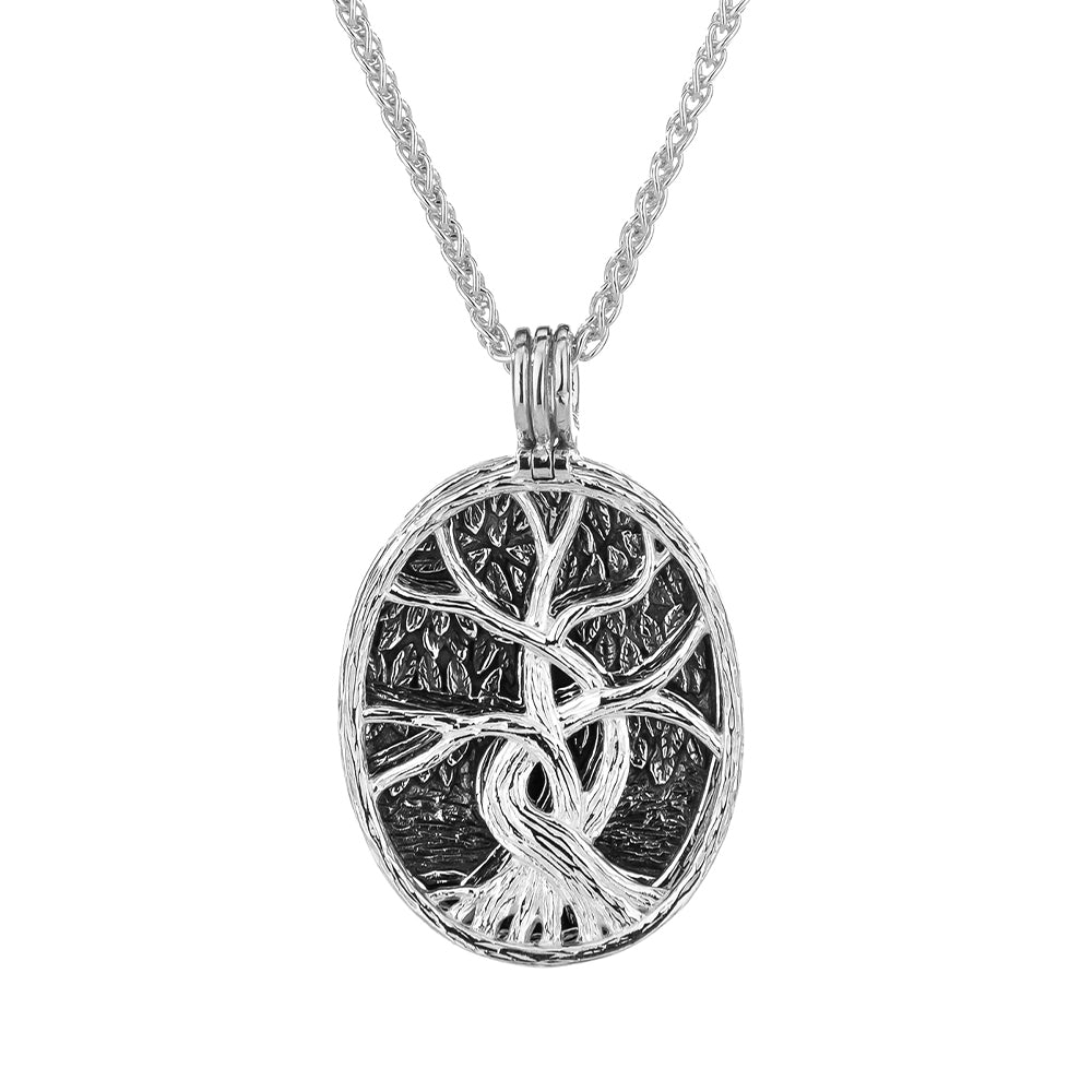 S/Sil + 22k Gilded Tree Of Life 4-Way Pendant