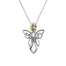 Sterling Silver and 10K Guardian Angel Large Pendent