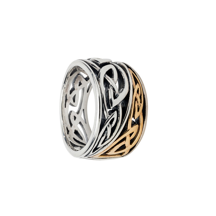 sterling silver and 10k yellow gold harmony enrick tapered ring by keith jack
