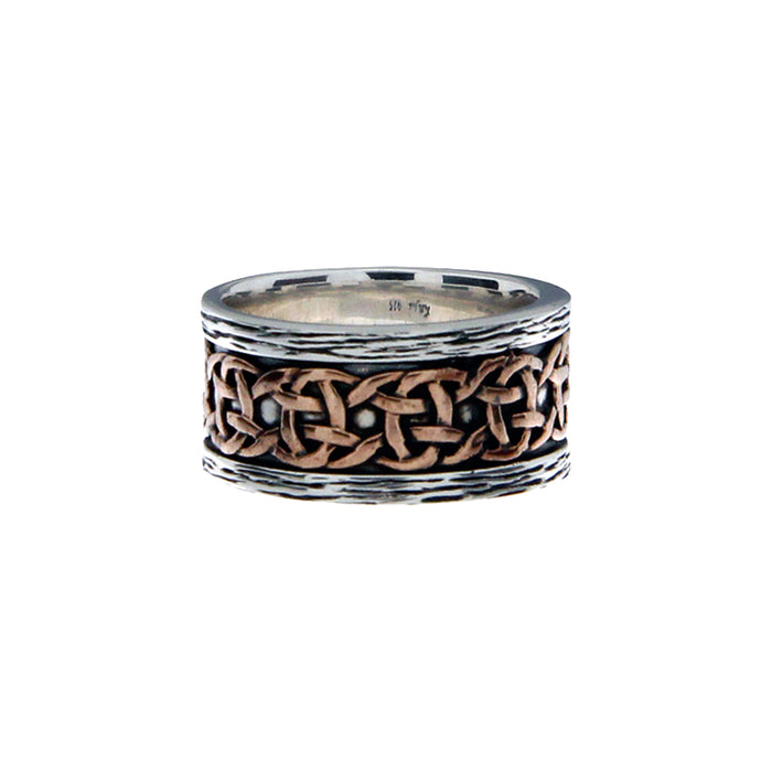 sterling silver and bronze scavaig ring by keith jack