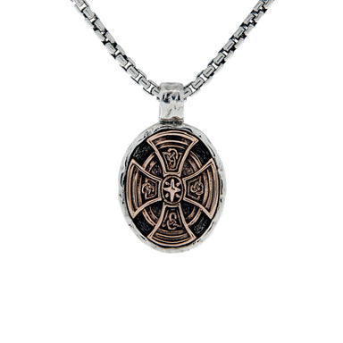 large celtic cross oval pendant by keith jack