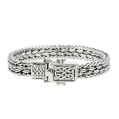 sterling silver celtic weave bracelet by keith jack