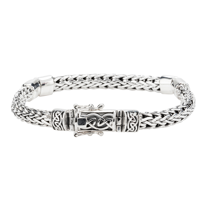 sterling silver dragon weave hinged bracelet by keith jack