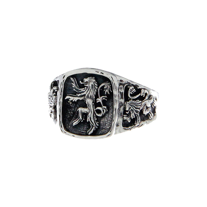 sterling silver large lion rampant ring by keith jack