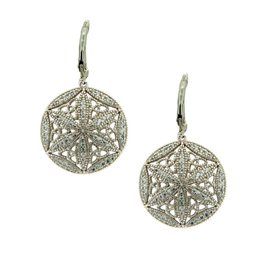 back of sterling silver white and chocolate cubic zirconia night and day round earrings by keith jack