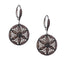 sterling silver white and chocolate cubic zirconia night and day round earrings by keith jack