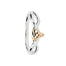 sterling silver and 10k yellow gold trinity knot ring by keith jack