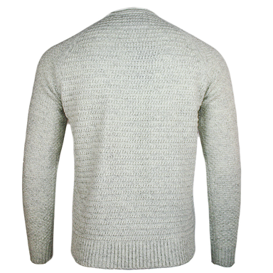 back of emerald isle kenmare winter white crew neck sweater