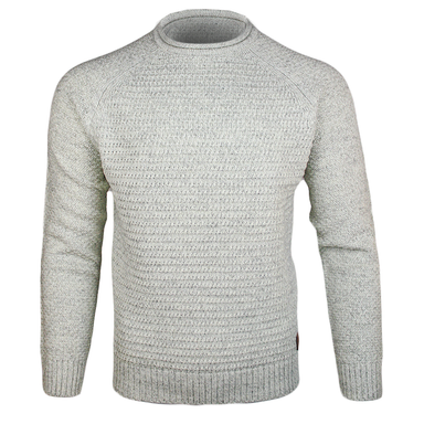 front of emerald isle kenmare winter white crew neck sweater