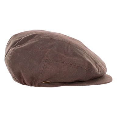 waxed cotton kerry flat cap