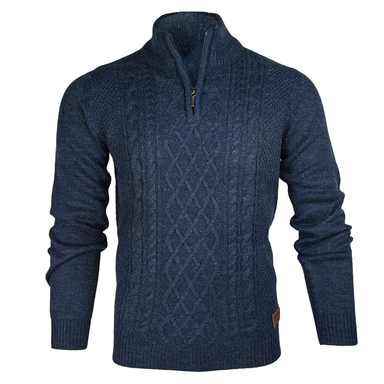 front of blue emerald isle kinsale half zip sweater