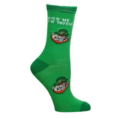"Ladies ""Kiss me I am Irish"" Socks"