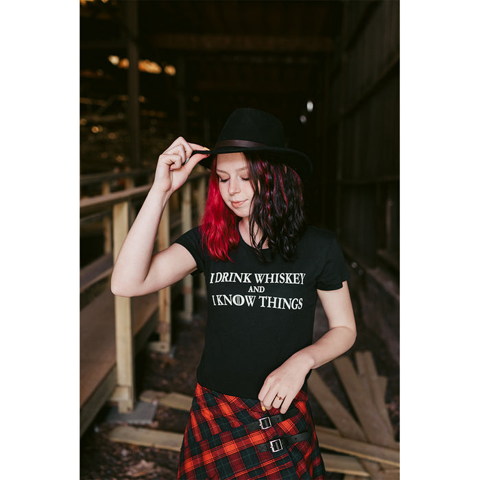 Whiskey Edition Ladies I Drink and I Know Things Shirt