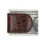 brown crock leather magnetic money clip