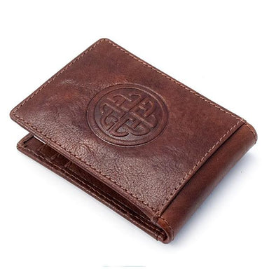 brown fergal celtic knot clip wallet by lee river