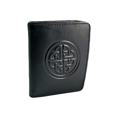 front of black caitlin leather wallet by lee river