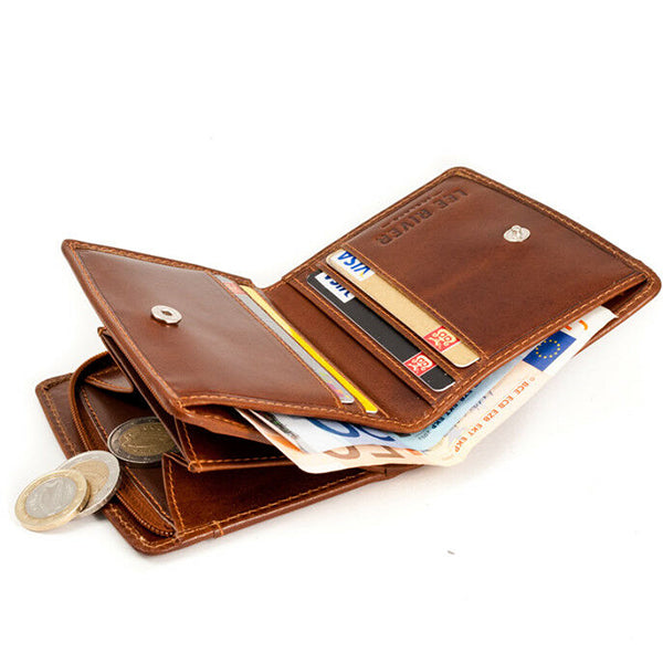 dark tan leather caitlin wallet by lee river