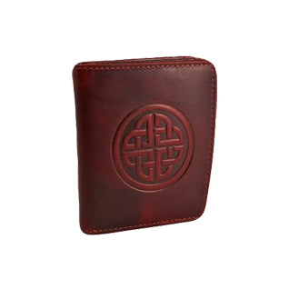 front of red caitlin leather wallet by lee river
