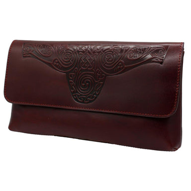 red leather ciara clutch bag by lee river