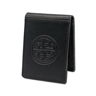 front of black fergal dog clip wallet by lee river