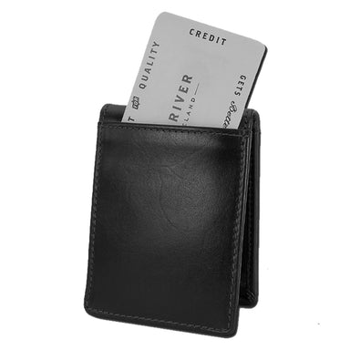 back of black fergal dog clip wallet by lee river