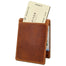 back of rustic tan fergal dog clip wallet by lee river