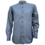 front of light blue tencel grandfather shirt by celtic ranch