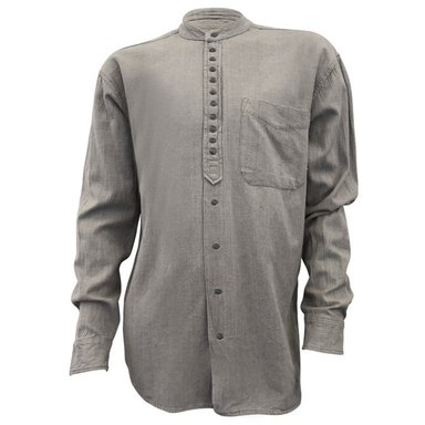 front of light grey grandfather shirt by civilian