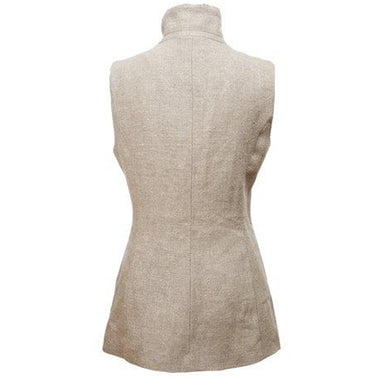 Celtic Lady Tan Linen Gilet