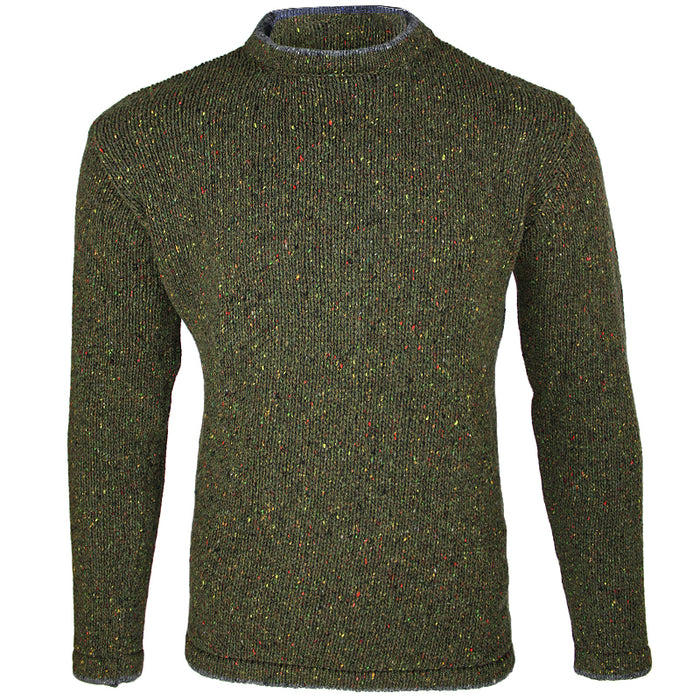 front view of irelands eye mens irish pullover sweater