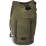 front of waxed canvas traveler sling duffle bag by love indeed