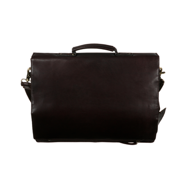 front of tinnakeenly leather macbook satchel bag