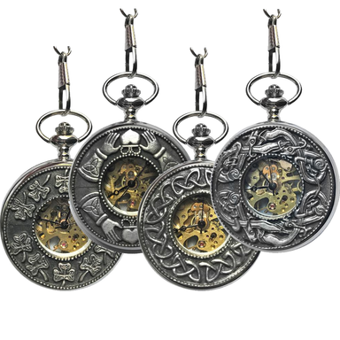 Mullingar Pewter Mechanical Pocket Watch 4 styles