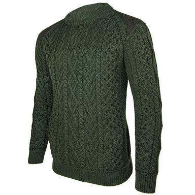 side view of west end knitwear merino wool crew neck sweater