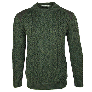 front of west end knitwear merino wool crew neck sweater