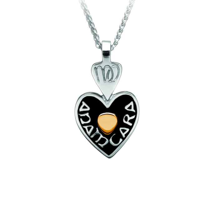 mo anam cara soulmate pendant with gold center heart by boru