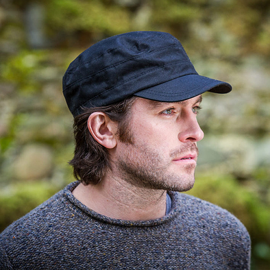 mucros weavers fisherman cap wax cotton