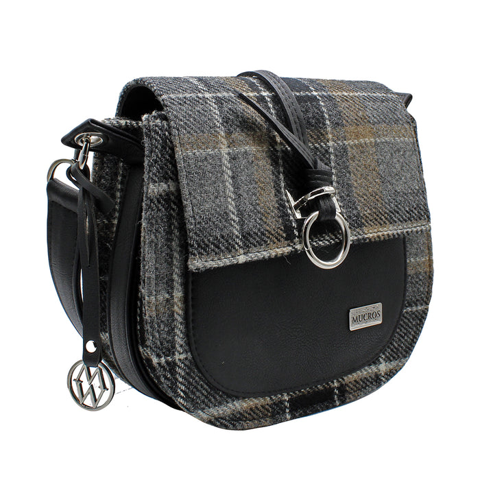 wool and leather grace bag by style 21 by mucros weavers
