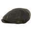 waxed olive cotton kerry flat cap by mucros weavers
