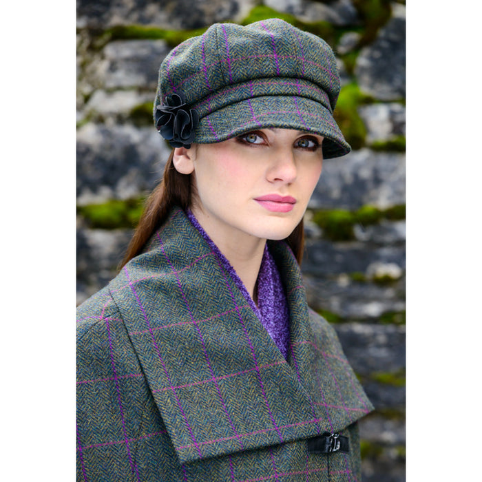model of color 150 ladies newsboy cap by mucros weavers