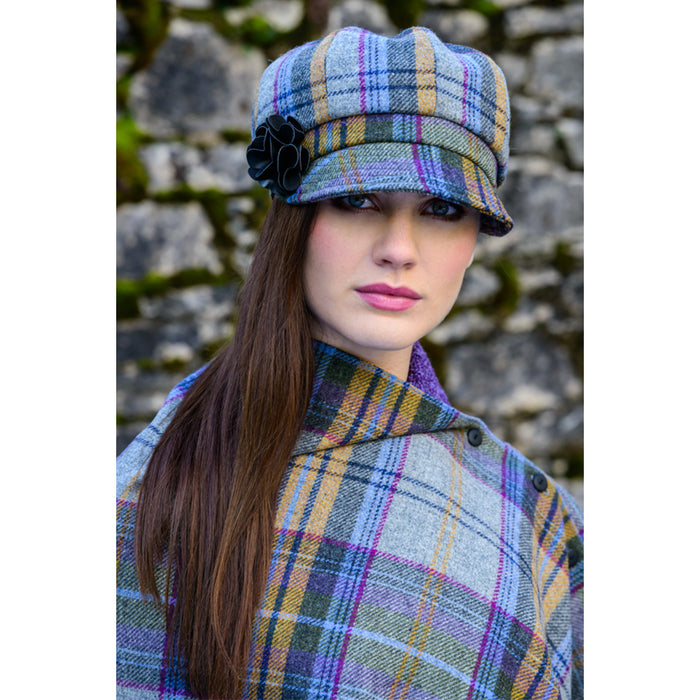 model of color 203 ladies newsboy cap by mucros weavers