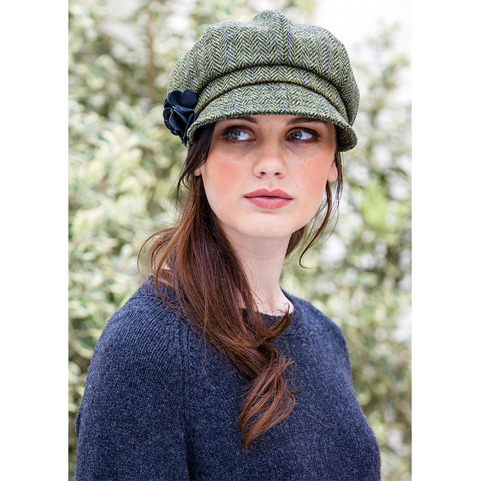 model of color 51 ladies newsboy cap by mucros weavers