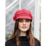 model of color red ladies newsboy cap by mucros weavers