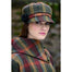 model of color 321 ladies newsboy cap by mucros weavers