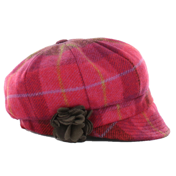color 223 ladies newsboy cap by mucros weavers